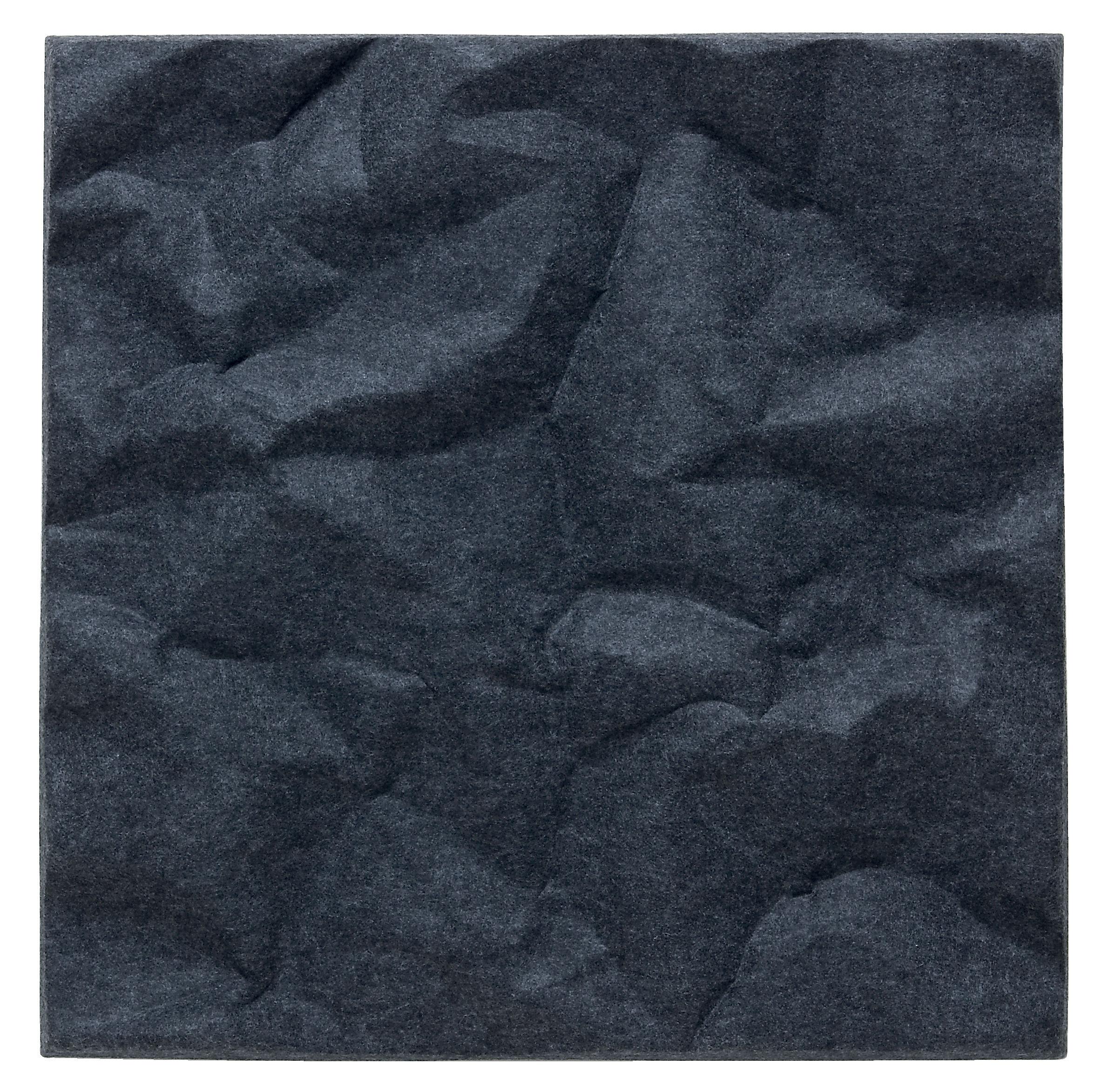 Mobilier - Paravents, séparations - Panneau acoustique mural Soundwave Scrunch - Offecct - Gris anthracite - Fibre de polyester
