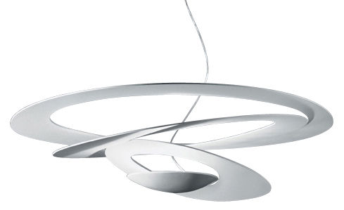 Leuchten - Pendelleuchten - Pirce Pendelleuchte - Artemide - Weiß - klarlackbeschichtetes Aluminium