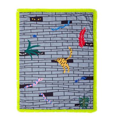 Plaid rembourré Tapame Mucho Large - Urban Jungle / 180 x 140 cm - Sancal jaune,gris en tissu