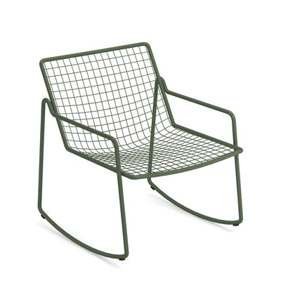 Rocking chair Rio R50 / Métal - Emu vert en métal