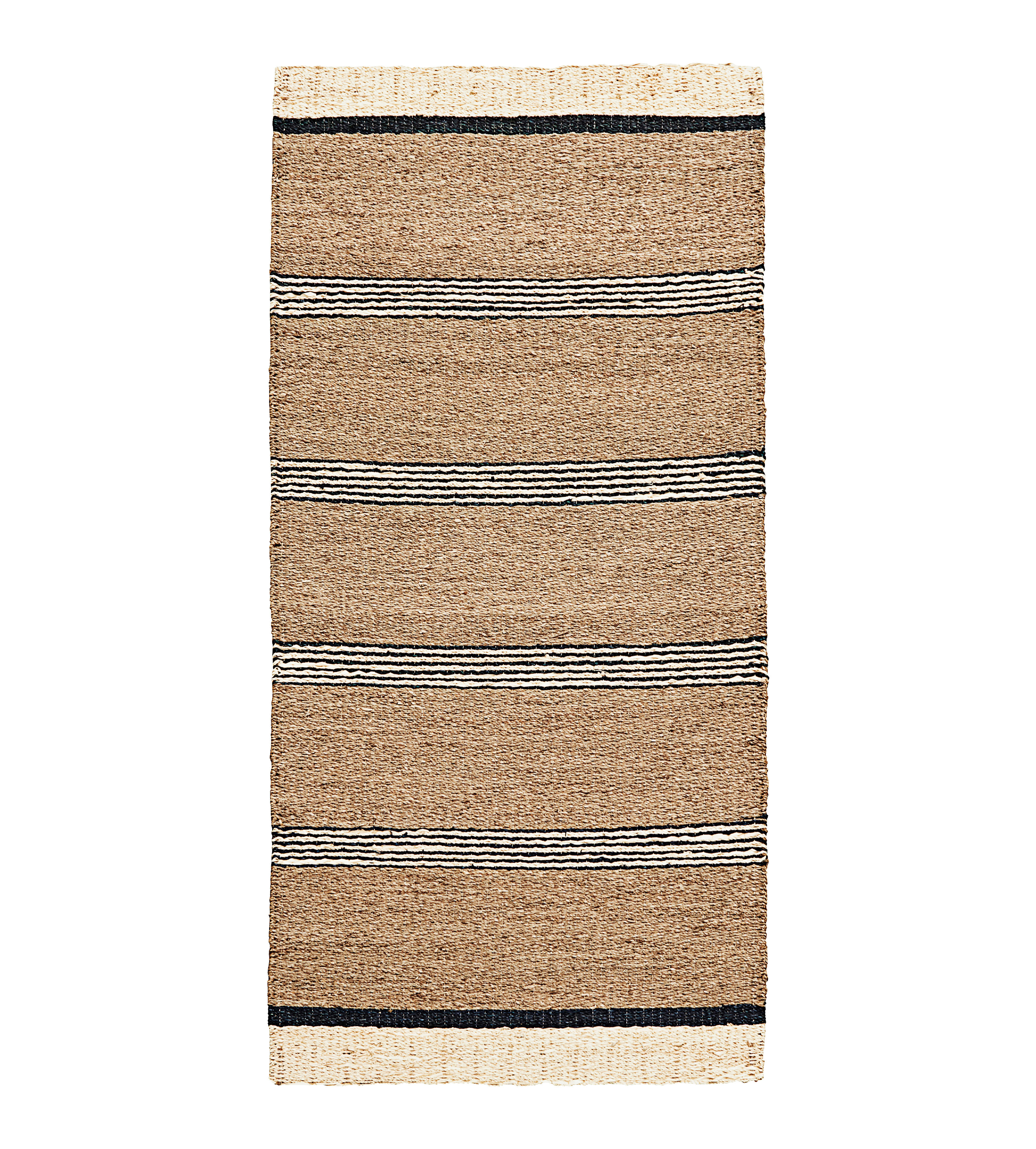 Decoration - Rugs - Beach Rug - / 90 x 200 cm - Seagrass by House Doctor - Natural / Black - Seagrass