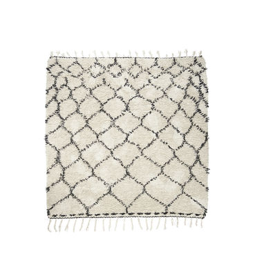 Decoration - Rugs - Zena Rug - 180 x 180 cm by House Doctor - Noir & blanc - Cotton