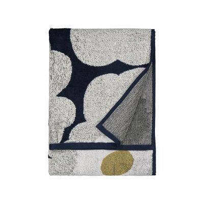 Accessoires - Accessoires salle de bains - Serviette de bain Unikko / 50 x 70 cm - Marimekko - Unikko / Bleu marine, gris clair - Coton éponge