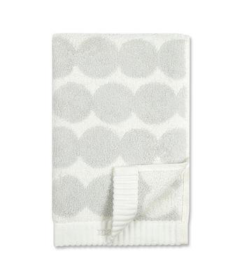 Déco - Textile - Serviette de toilette Räsymatto / 50 x 100 cm - Marimekko - Räsymatto / Blanc & gris clair - Coton éponge