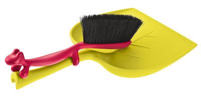 Küche - Spülen und putzen - Dustin Set Handfeger und Fegeblech Set aus Handfeger und Schaufel - Koziol - Senf und pflaume - Plastik