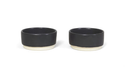 Tableware - Bowls - Otto Small dish - / Set of 2 by Frama  - Black - Enamelled sandstone