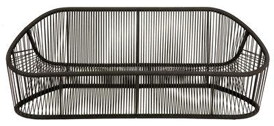 Möbel - Sofas - Club Sofa / L 190 cm - Zanotta - Braun - gefirnister Stahl, PVC