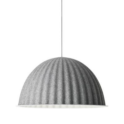 Illuminazione - Lampadari - Sospensione acustica Under the bell - acustico - Ø 82 cm di Muuto - Grigio scuro - Feltro riciclato