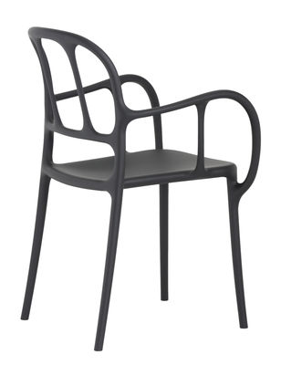 Furniture - Chairs - Milà Stackable armchair - Plastic by Magis - Black - Polypropylene