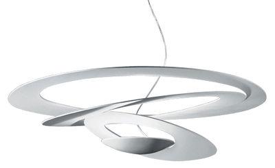 Luminaire - Suspensions - Suspension Pirce / Ø 97 cm - Artemide - Blanc - Aluminium verni