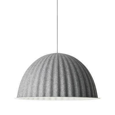 Luminaire - Suspensions - Suspension acoustique Under the bell / Feutre - Ø 82 cm - Muuto - Gris foncé - Feutre recyclé