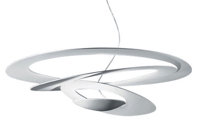 Luminaire - Suspensions - Suspension Pirce / Ø 97 cm - Artemide - Blanc - Aluminium verni