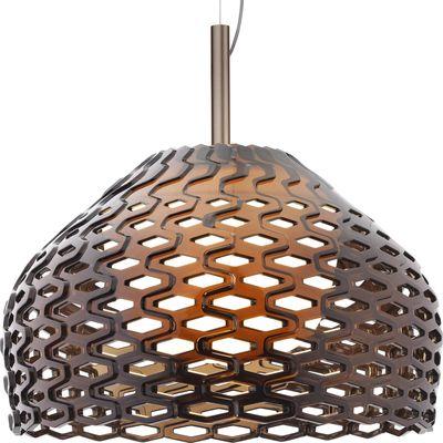 Luminaire - Suspensions - Suspension Tatou S2 Ø 50 cm - Flos - Gris-ocre - Méthacrylate, Polycarbonate