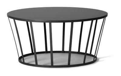 Table basse Hollo / Ø 70 x H 33 cm - Petite Friture gris/noir en métal