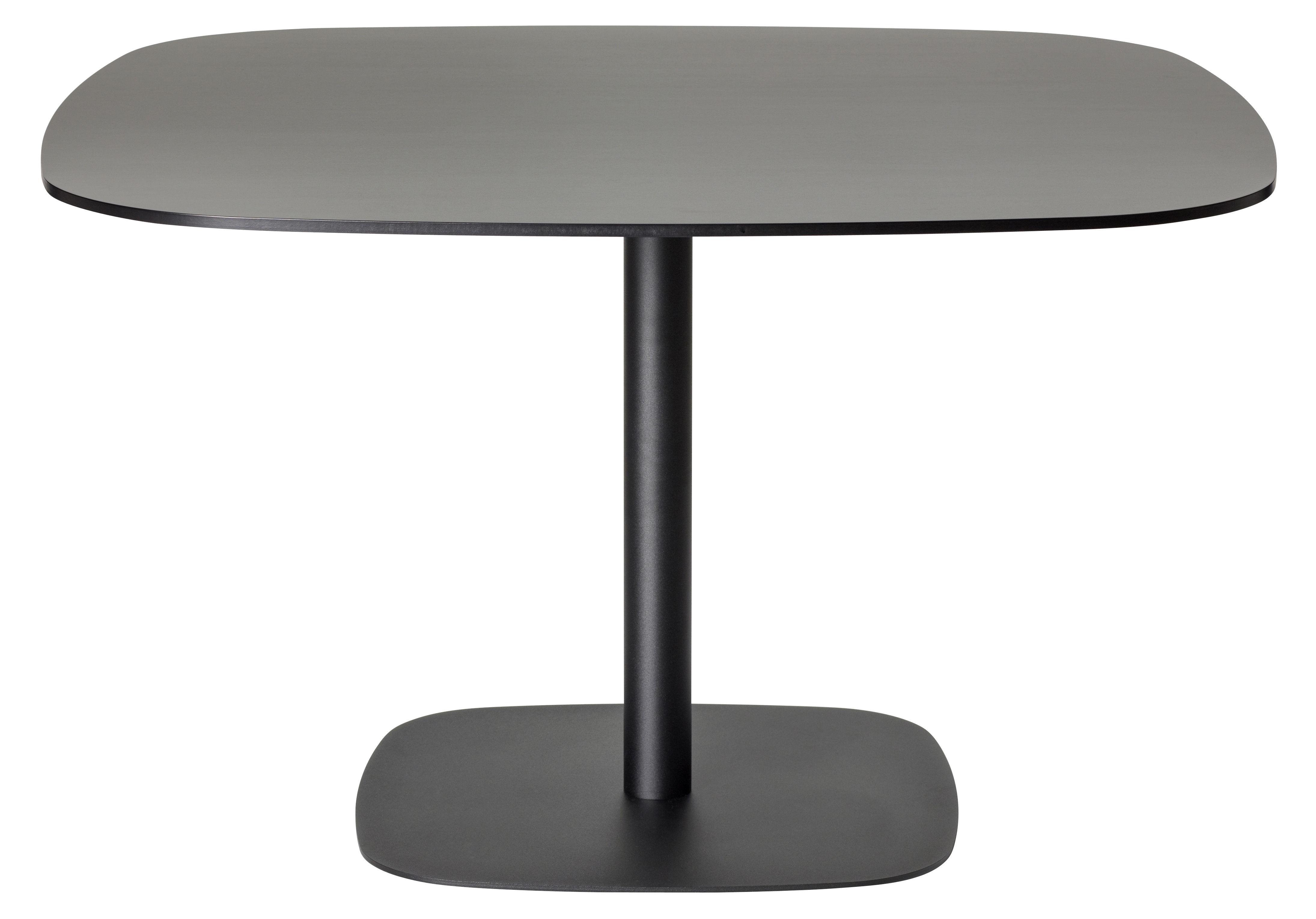 Mobilier - Tables - Table carrée Nobis / 90x90 cm - Offecct - Noir - 90x90 cm - Contreplaqué compact, Métal laqué
