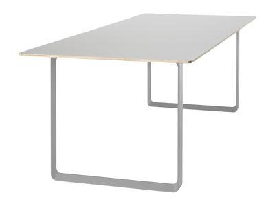 Table rectangulaire 70-70 / 170 x 85 cm - Contreplaqué - Muuto gris en métal