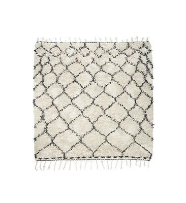 Tapis zena 180 x 180 cm noir blanc house doctor - Made in design tapis ...
