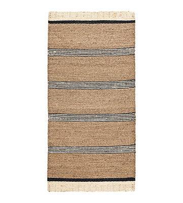 Déco - Tapis - Tapis Beach / 90 x 200 cm - Jonc de mer - House Doctor - Naturel / Noir - Jonc de mer