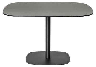 Arredamento - Tavoli - Tavolo quadrato Nobis - H 72 cm - 90x90 cm di Offecct - Nero - 90x90 cm - Compensato compatto, metallo laccato