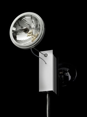 Lighting - Wall Lights - Use me W. Wall light with plug - Wall lamp by Ingo Maurer - Aluminium & steel - Steel