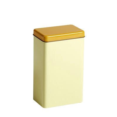 Kitchenware - Kitchen Storage Jars - Sowden Airtight box - / H 20 cm - Metal by Hay - Yellow - Tinplate