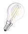 Ampoule LED E14 / Sphérique claire - 2,8W=25W (2700K, blanc chaud) - Osram