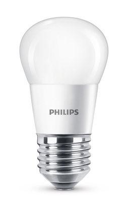 Ampoule LED E27 Sphérique dépolie / 5,5W (40W) - 470 lumen - Philips blanc dépoli en verre