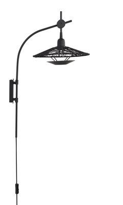 Illuminazione - Lampade da parete - Applique con presa Carpa - / Fili di cotone - H 72 cm di Forestier - Nero - Acciaio laccato, Fils en coton