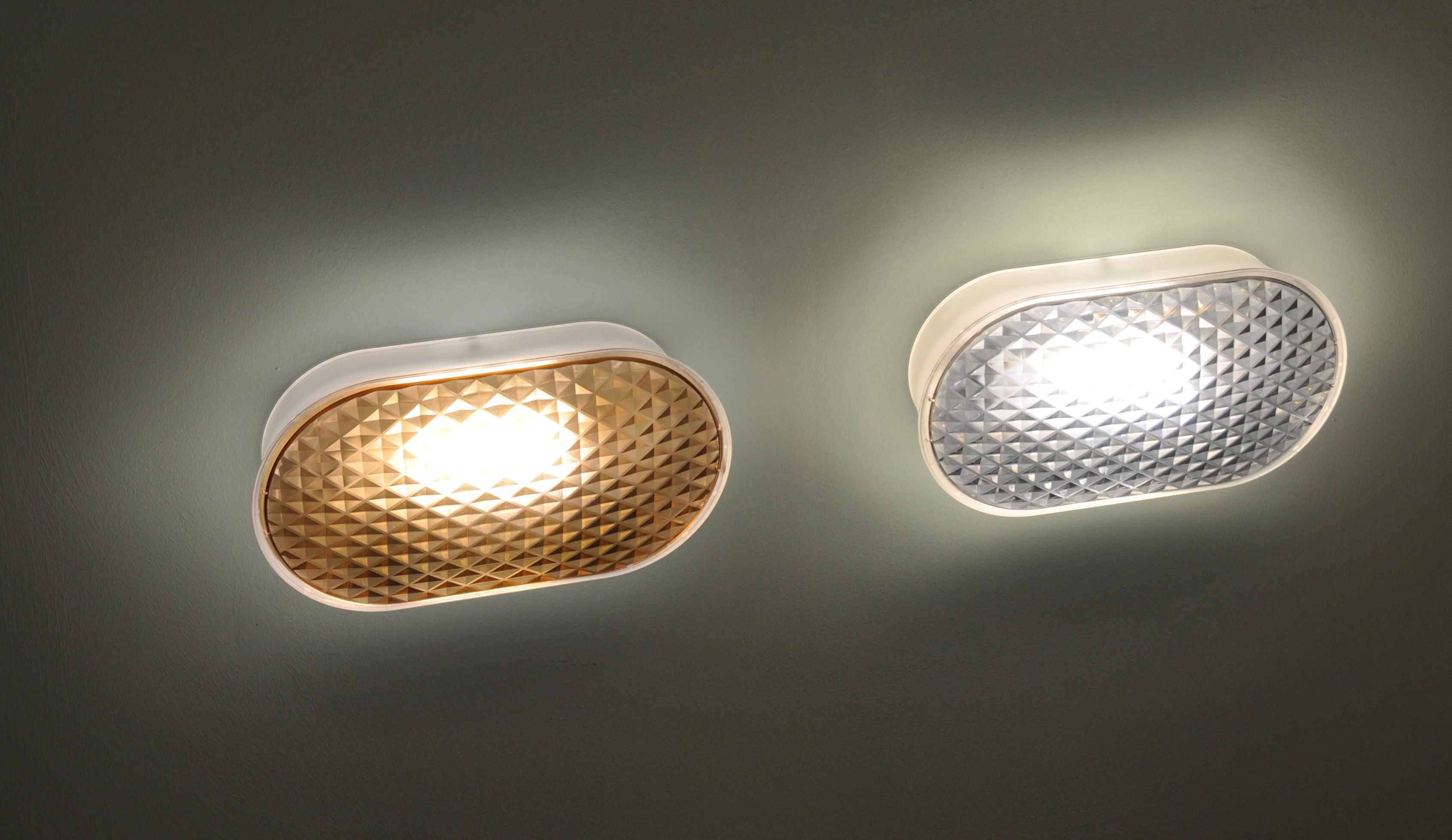 Vitro applique led plafoniera bronzo by fontana arte made in