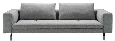 Mobilier - Canapés - Canapé droit Bruce / L 208 cm - Zanotta - Gris - Aluminium, Tissu