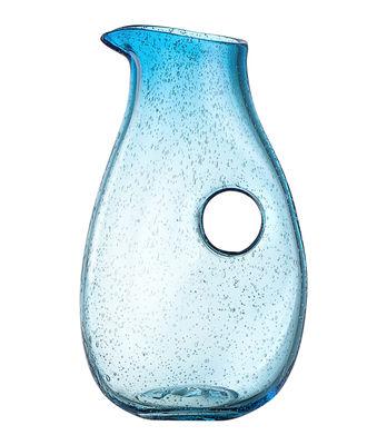 Arts de la table - Carafes et décanteurs - Carafe Burano / 1,5 L - Fait main - Leonardo - Bleu lagune - Verre bullé