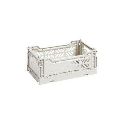 Image of Cestino Colour Crate - Small / 26 x 17 cm di Hay - Grigio - Materiale plastico