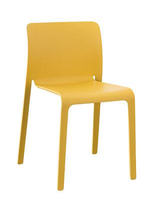 Chaise empilable First Chair Plastique Magis moutarde en matière plastique