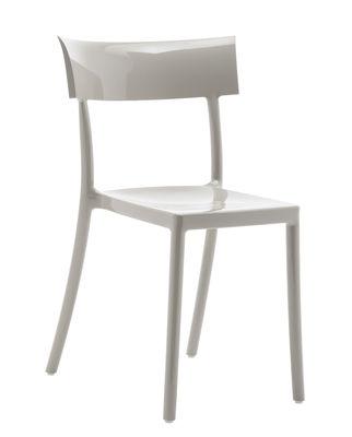 Chaise empilable Generic Catwalk / Polycarbonate - Kartell gris en matière plastique