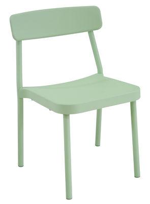 Mobilier - Chaises, fauteuils de salle à manger - Chaise empilable Grace Outdoor / Métal - Emu - Vert Sauge - Aluminium verni