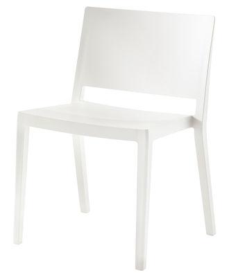 Chaise empilable Lizz / Version mate - Kartell blanc mat en matière plastique