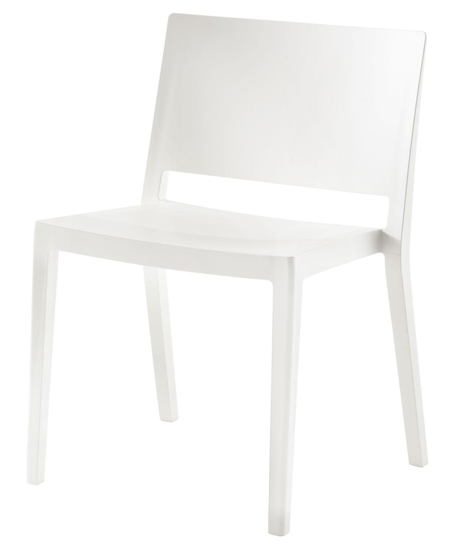Mobilier - Chaises, fauteuils de salle à manger - Chaise empilable Lizz / Version mate - Kartell - Blanc mat - Technopolymère