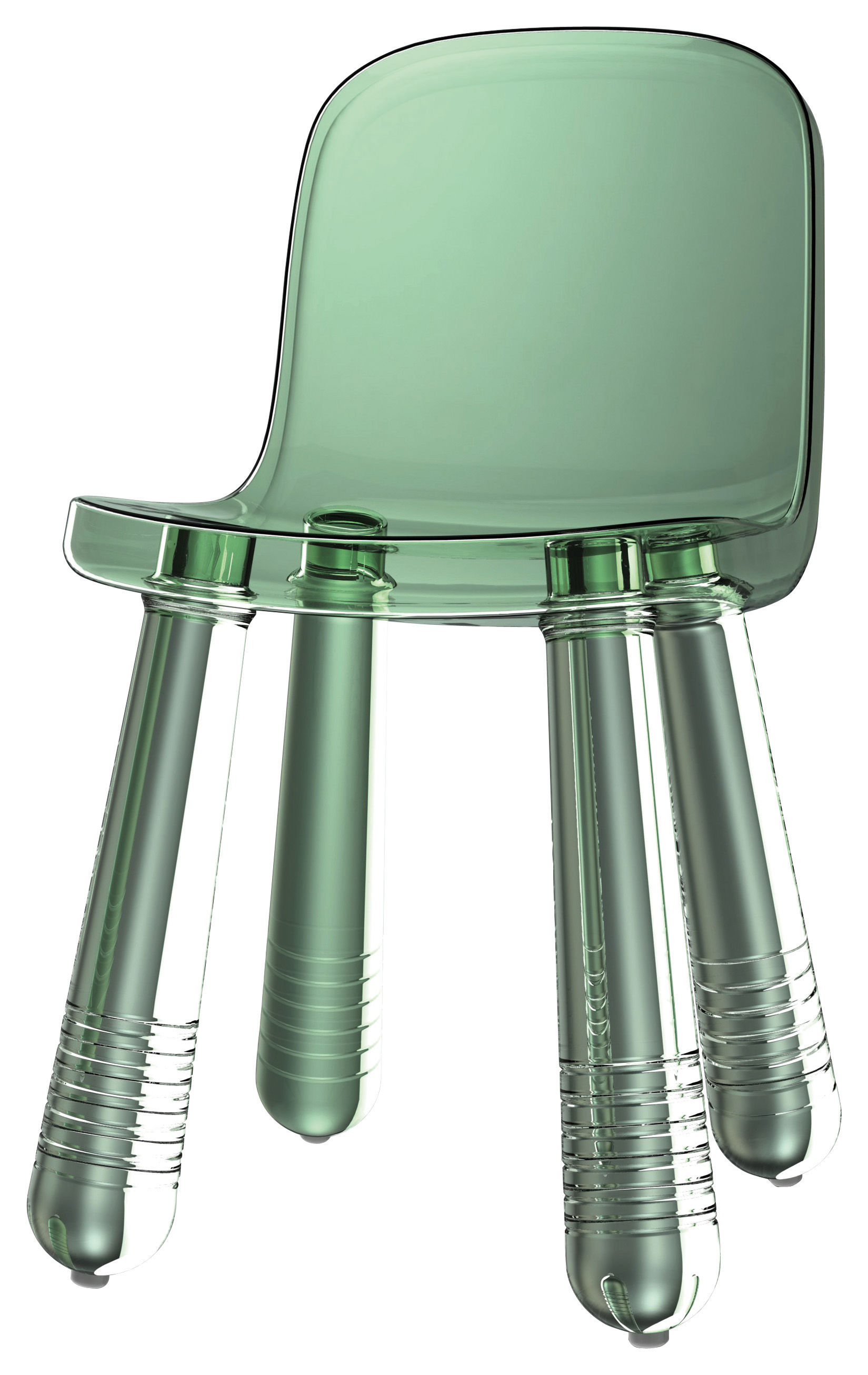 Mobilier - Chaises, fauteuils de salle à manger - Chaise Sparkling - Magis - Vert translucide - Polyéthylène