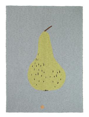Decoration - Children's Home Accessories - Poire Children blanket - / 80 x 100 cm - Cotton by Ferm Living - Pear / Blue - Cotton