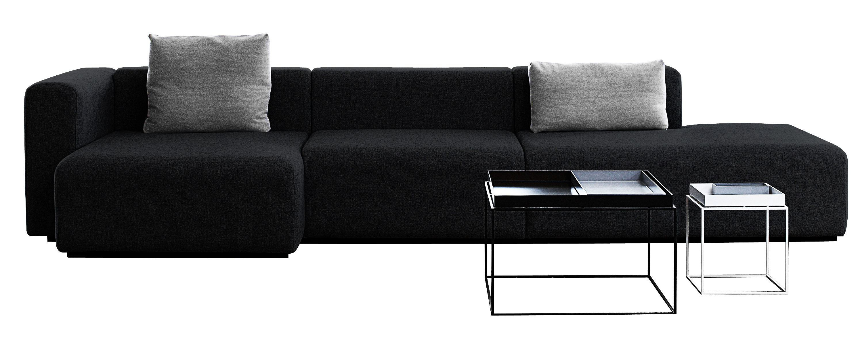 Furniture - Sofas - Mags Corner sofa - L 342 cm - Left armrest by Hay - Dark grey - Left armrest - Fabric