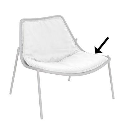 Interni - Oggetti déco - Cuscino - / Per poltrona bassa Round di Emu - Cuscino / Bianco - Espanso, Tessuto acrilico