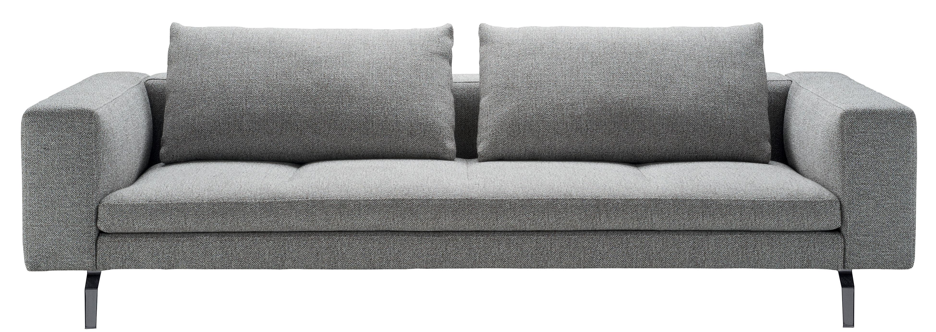 Arredamento - Divani moderni - Divano destro Bruce - / L 208 cm di Zanotta - Grigio - Alluminio, Tessuto