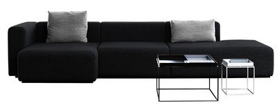 Möbel - Sofas - Mags Ecksofa L 342 cm - Armlehne links - Hay - Dunkelgrau - Armlehne links - Gewebe