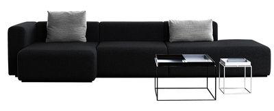 Möbel - Sofas - Mags Ecksofa L 342 cm - Armlehne rechts - Hay - Dunkelgrau - Armlehne rechts - Gewebe