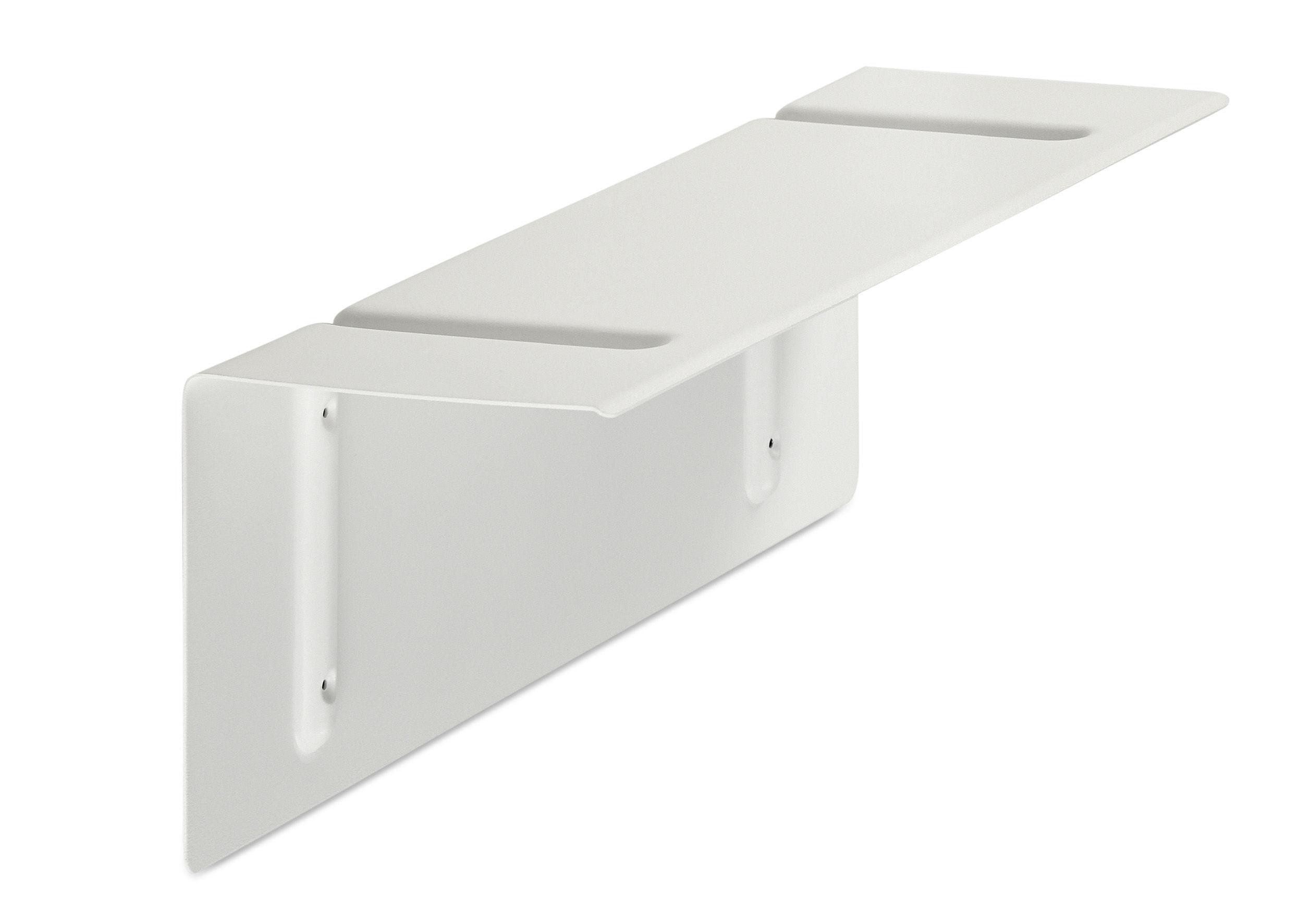 Mobilier - Etagères & bibliothèques - Etagère Brackets Included / L 60 cm - Hay - Blanc - Acier laqué