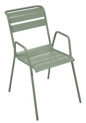 Mobilier - Chaises, fauteuils de salle à manger - Fauteuil bridge Monceau / L 52 cm - Métal - Fermob - Cactus - Acier peint