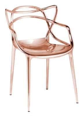 Mobilier - Chaises, fauteuils de salle à manger - Fauteuil empilable Masters / Métallisé - Kartell - Cuivre - ABS métallisé
