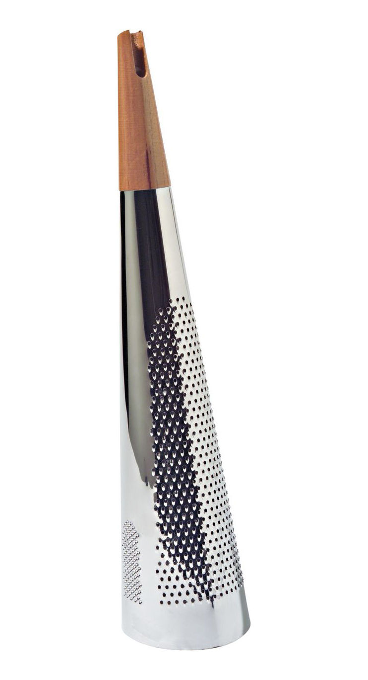 Kitchenware - Kitchen Equipment - Todo Grater by Alessi - Steel and wood - Stainless steel, Wood