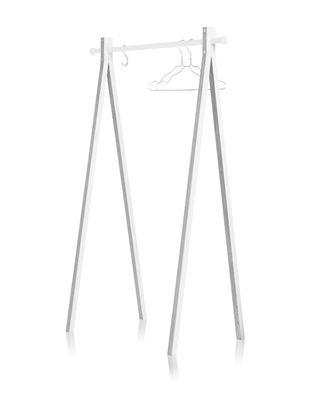 Möbel - Garderoben und Kleiderhaken - Dress-up Kleiderständer / L 120 cm - Nomess - Weiß / Kleiderstange weiß - bemalte Esche, lackiertes Aluminium