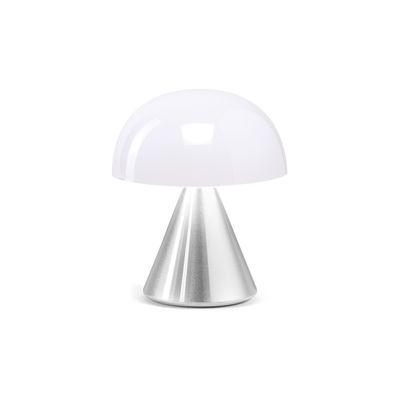 Illuminazione - Lampade da tavolo - Lampada senza fili Mina Mini - / LED - H 8,3 cm / INDOOR di Lexon - Aluminium poli - ABS, Alluminio